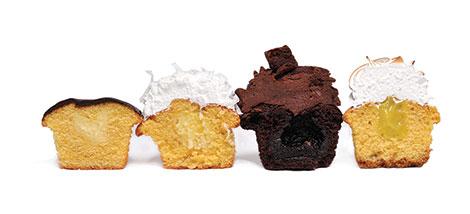Cutaway view cupcakes